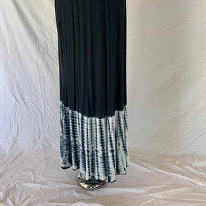 Lapis Dark Charcoal Maxi Skirt